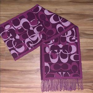 Coach scarf! Worn once